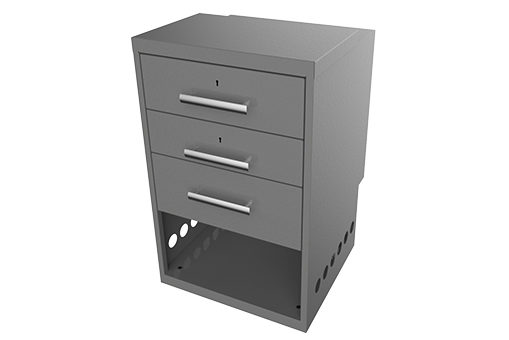 SS-PED-103 Three Drawer Pedestal