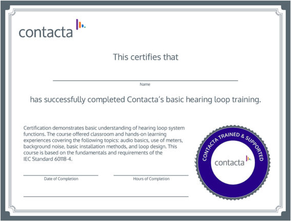 Contacta Certificate